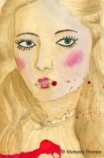 Original A6 Tea & Watercolour Painting £10. Contact Enquiries@VictoriaThorpe.co.uk