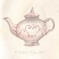 Original Tea & Watercolour Painting SOLD