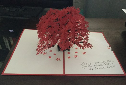 Image of a pop-up card with a tree.