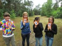 Ingeborg, Dagmar, Rima en Dana tijdens smurftego