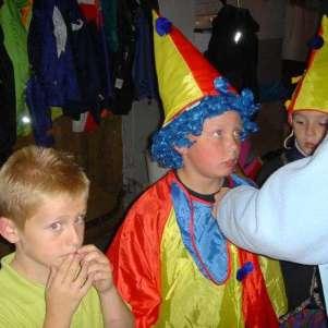 Even verkleden als clown