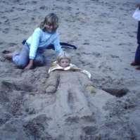 Ingraven in het zand