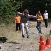 Sven bij het ver springen