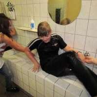 Linsey is 14 en wordt dus gedoopt