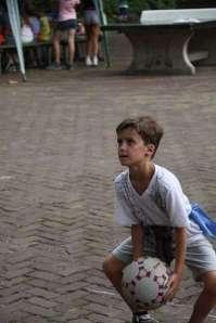 Viktor tijdens de roversspelen