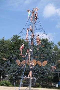 Met zijn allen in de hoge klimtoren