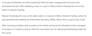 """""""ISIS-inspired"""" attack in Australia."""