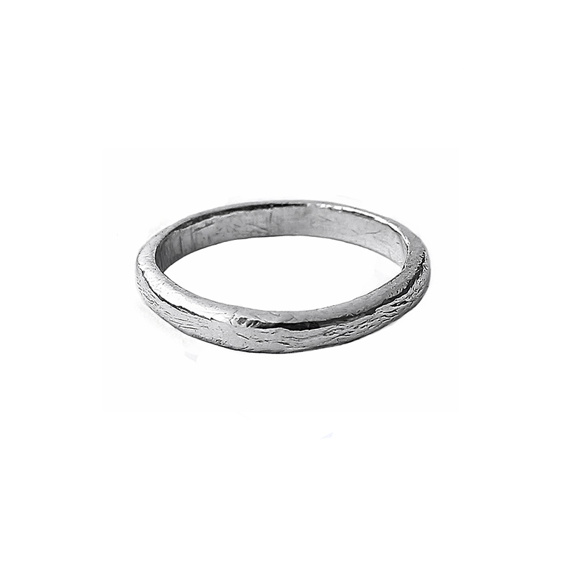 Sterling Silver Rugged Ring