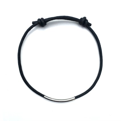 BLACK LEATHER FRIENDSHIP BRACELET