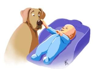 Младенец пес