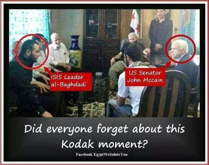 Senator McCain with ISIS leader Al Baghdadi