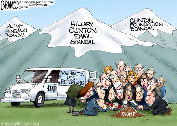 Clinton Mountains vs Trump Molehill