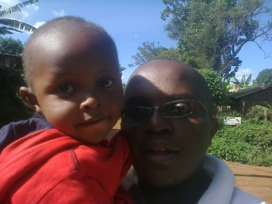 My godosn and I spending the afternoon in the hood