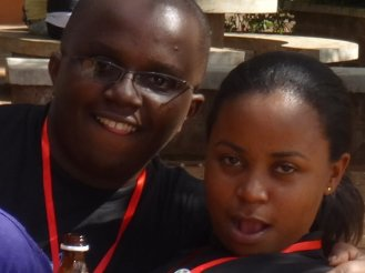Betty Hassan and I, we swagged up like that...
