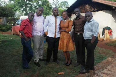 From left: Kariuki, my small bro Nesh, my bro Mato and his fiancee Rose, my cousin Dan and I during the ruracio