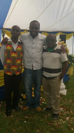 Irush (best man), my big bro Tonny (aka Trice) and I at the Butterfly Wedding