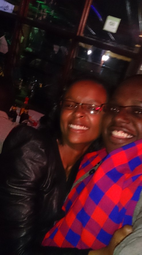 Maggie and I at the Tavern bash on Friday night