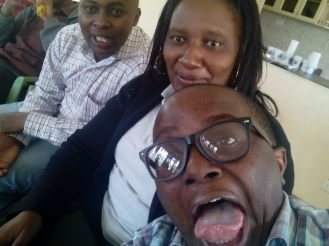 CSR tingz- my two superiors and I enjoying a selfie moment at a company's CSR event last year