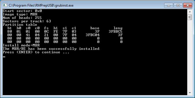 Hacer un usb multibooteable RMPrepUSB 6