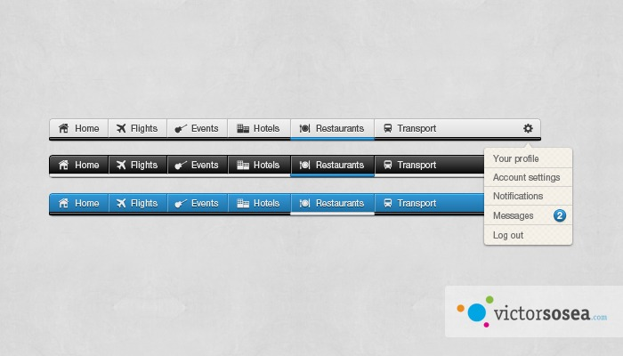 Awesome Navigation Free PSD