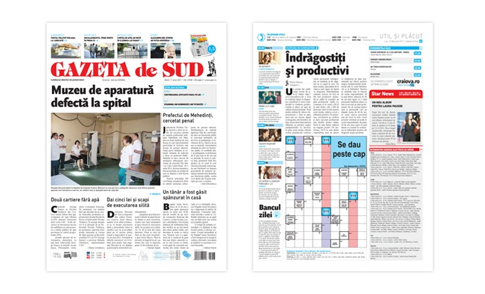 Gazeta de Sud Newspaper Redesign