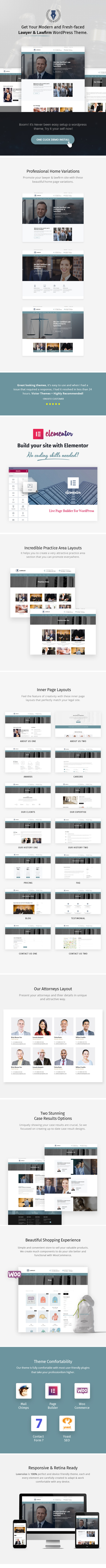 Lawrules Theme Features