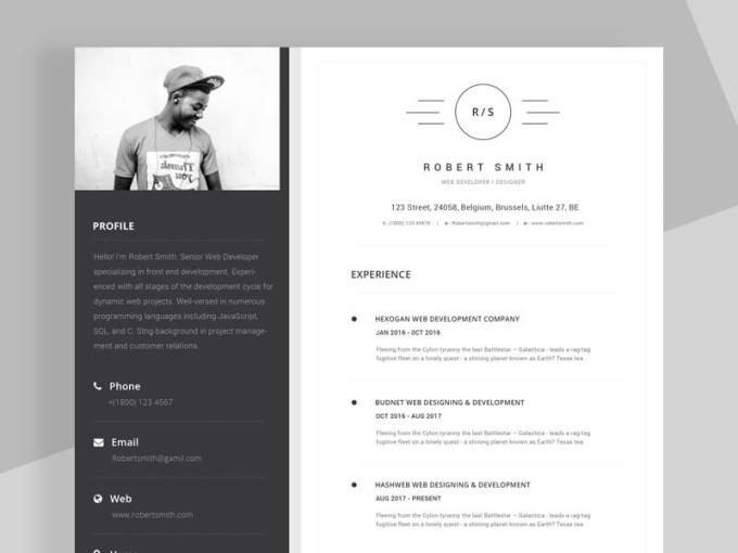 Resume CV Template   VictorThemes resume template 800 x 600 02  1