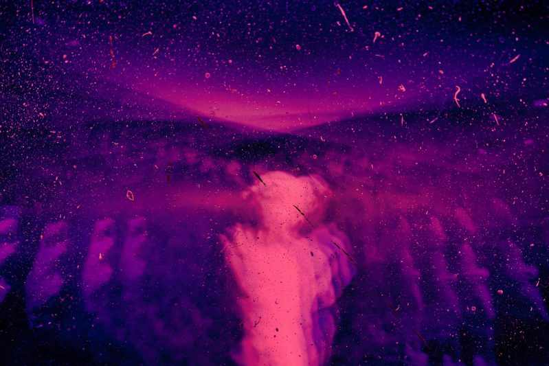 Psychedelic image with beautiful shades of purple and pink