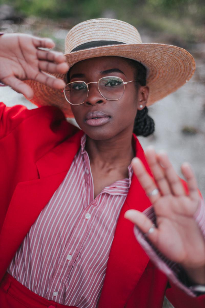 Red blazer for women