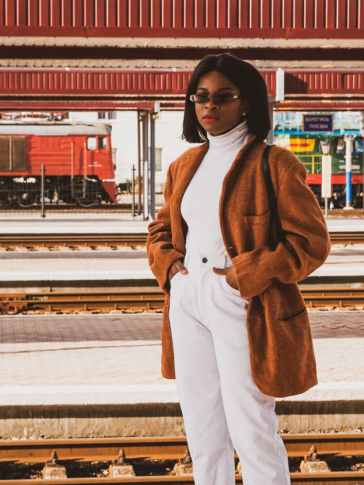 Brown and white outfit ideas