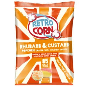 Bag of rhubarb custard popcorn