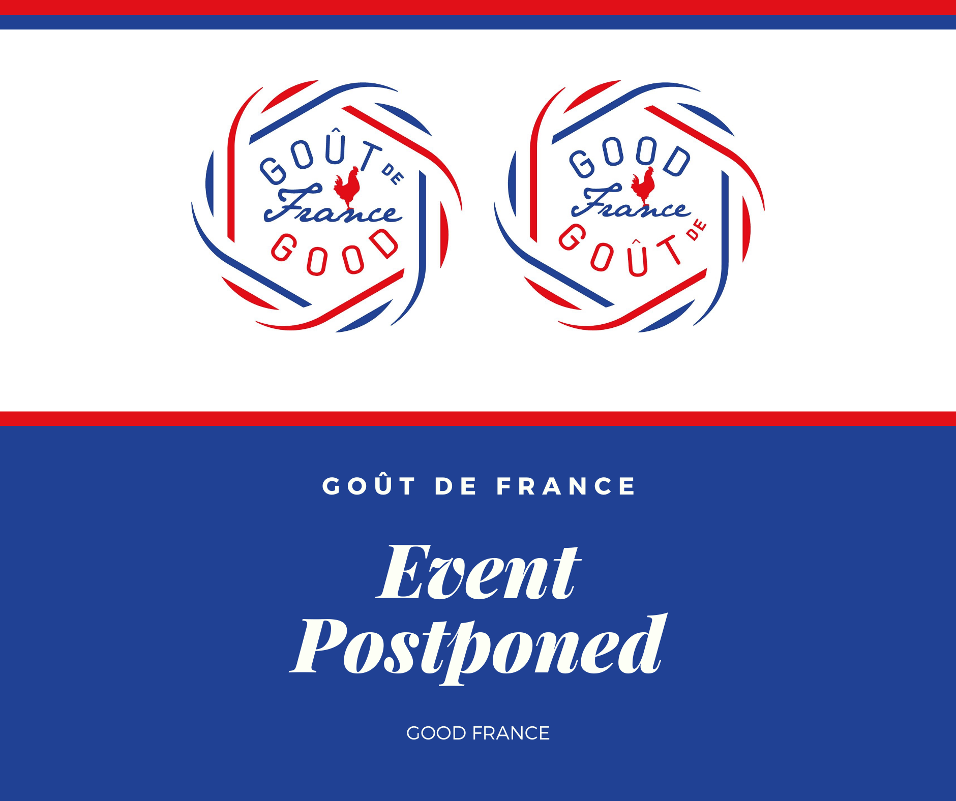 Good France/ Goût de France event Postponed