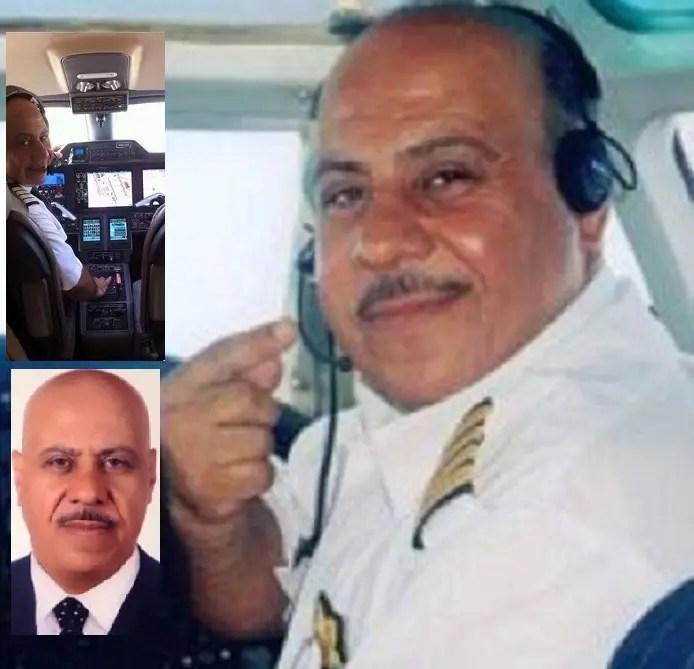 الطيار مازن سالم العقيل الدعجة (أبو عقيل) عمره 58 سنة، وله خبرة طويلة بالطيران