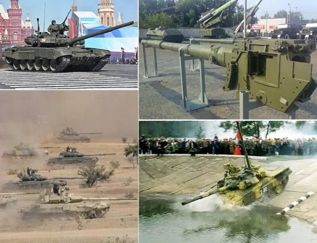 المدفع الرئيسي للدبابة التي تسير بسرعة 65 كيلومتر بالساعة وتغوص تحت الماء من عيار 125 ملم