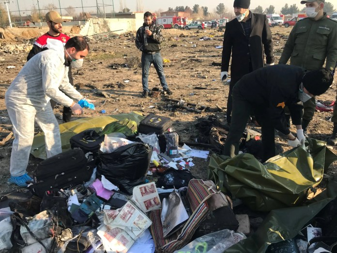 From the site of the Ukrainian plane crash in Tehran (archive - Reuters)