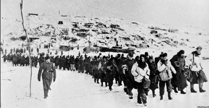 Part of the German forces that surrendered in Stalingrad