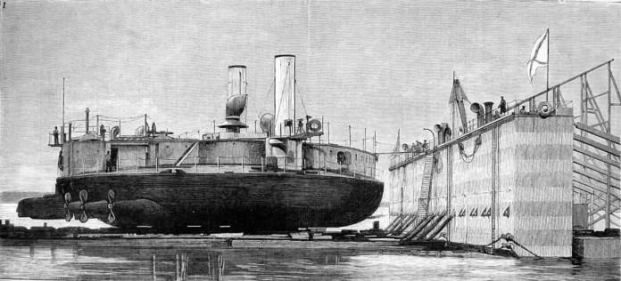 Fantasy drawing of the ship Popov
