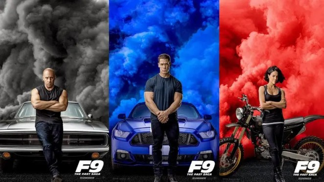 Cast of Fast 9 in posters for the movie