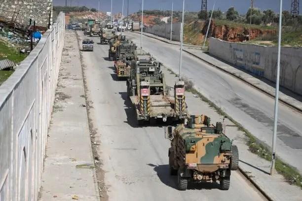 آليات عسكرية تركية - أرشيفية