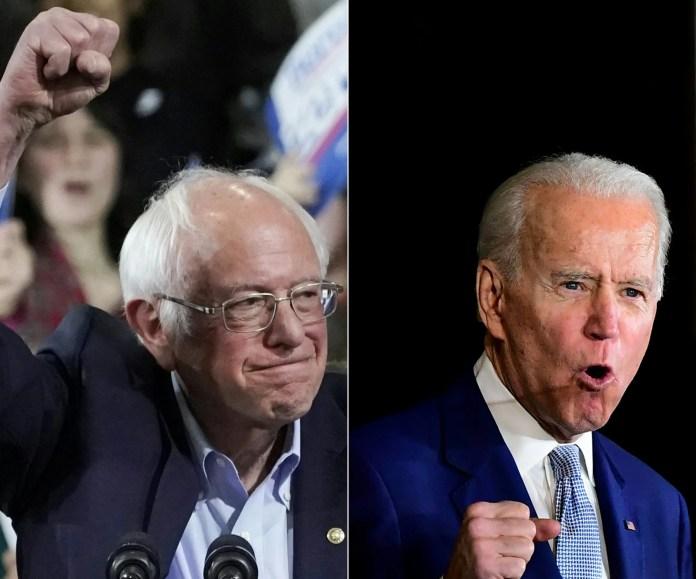 Biden and Sanders (Archives - France Press) 2
