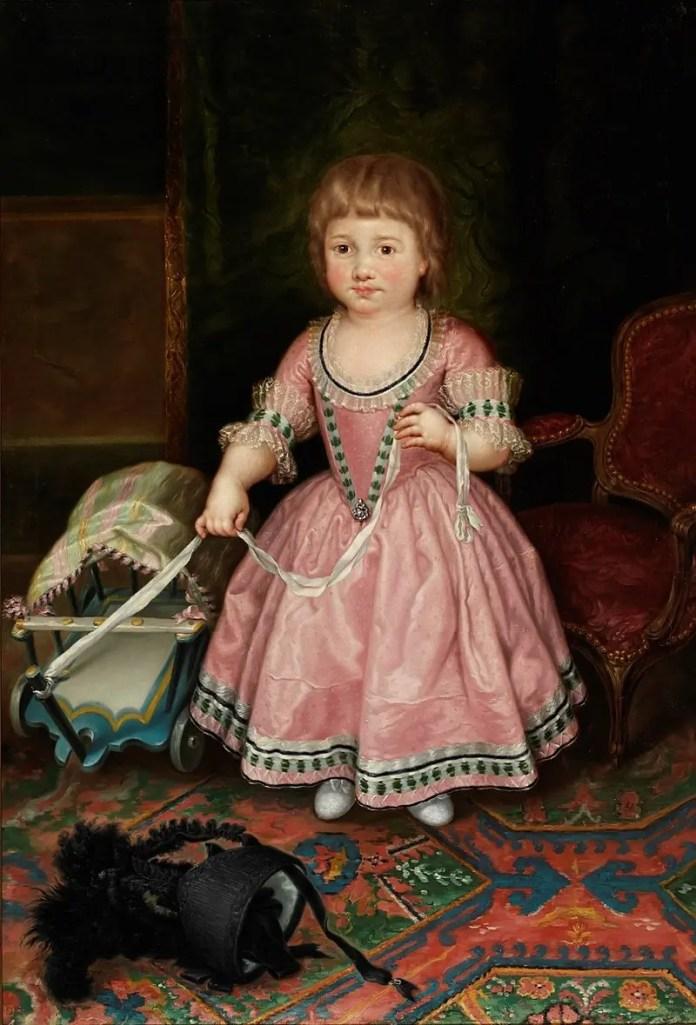 Photo of Princess Maria Theresa who died of smallpox