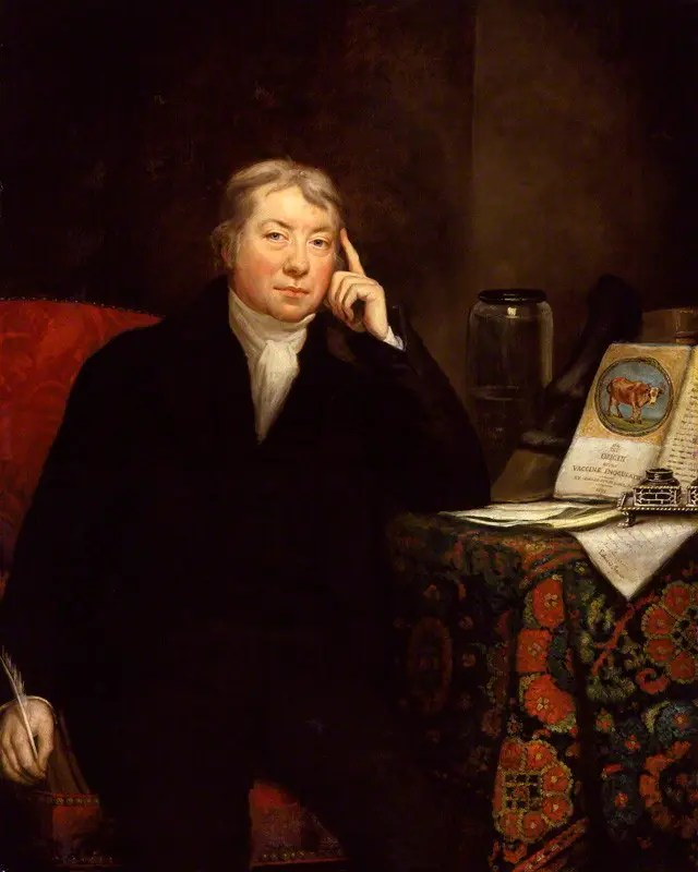 A painting embodying the personality of doctor Edward Jenner