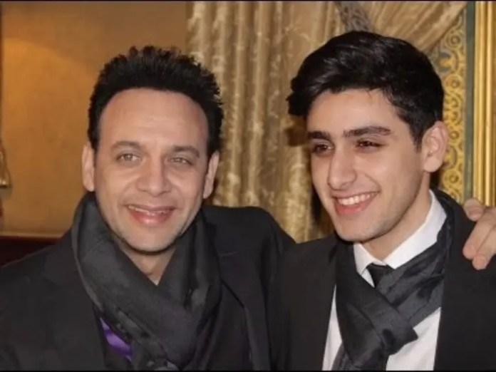 Mustafa Qamar and his son, rising actor Tiam