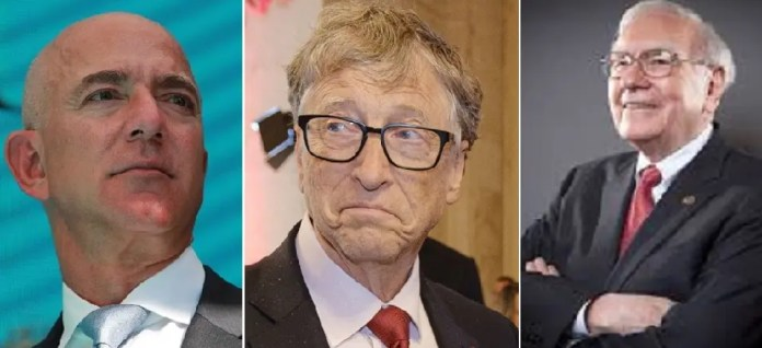 From the right, according to the poorest, Buffett, Gates and Bezos