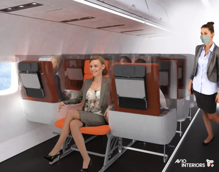 New aircraft seat design