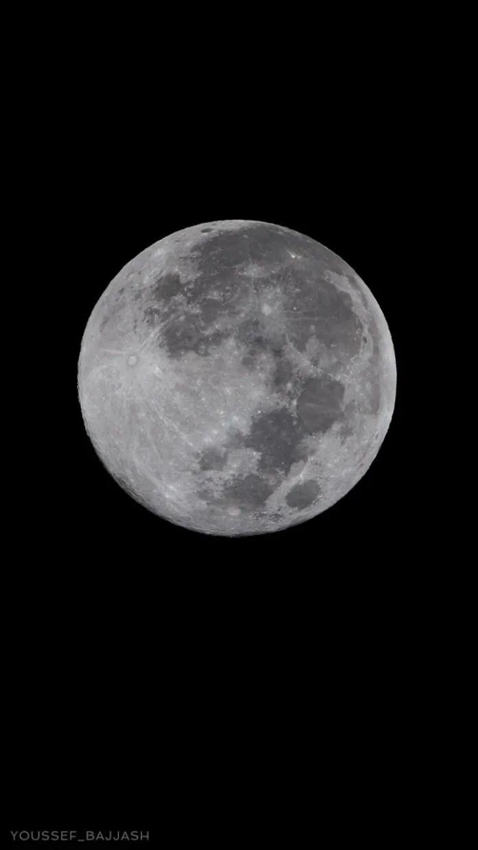 The giant moon