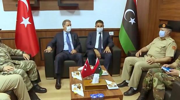 من زيارة وزير الدفاع التركي خلوصي أكار لليبيا في 3 يوليو الحالي