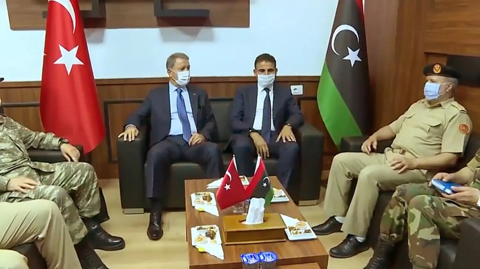 From the visit of Turkish Defense Minister Hulusi Akar to Libya on July 3