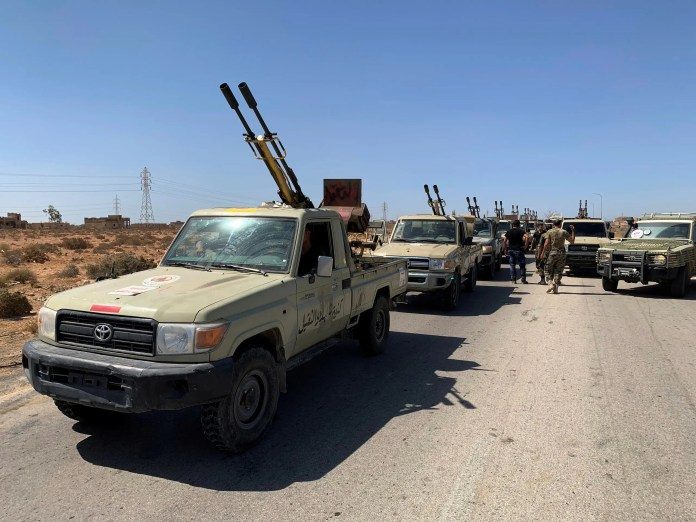 Al-Wefaq mechanisms prepare to move to Sirte (July 18, 2020 - Reuters)