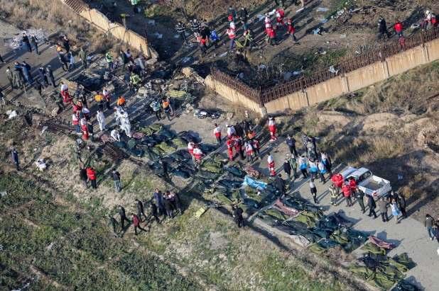 جثث ضحايا الطائرة الأوكرانية - أسوشيتد برس